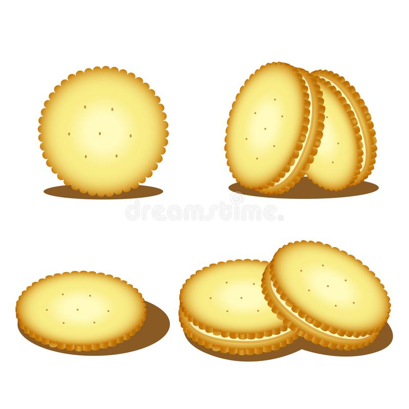 Illustrateur des biscuits illustration de vecteur