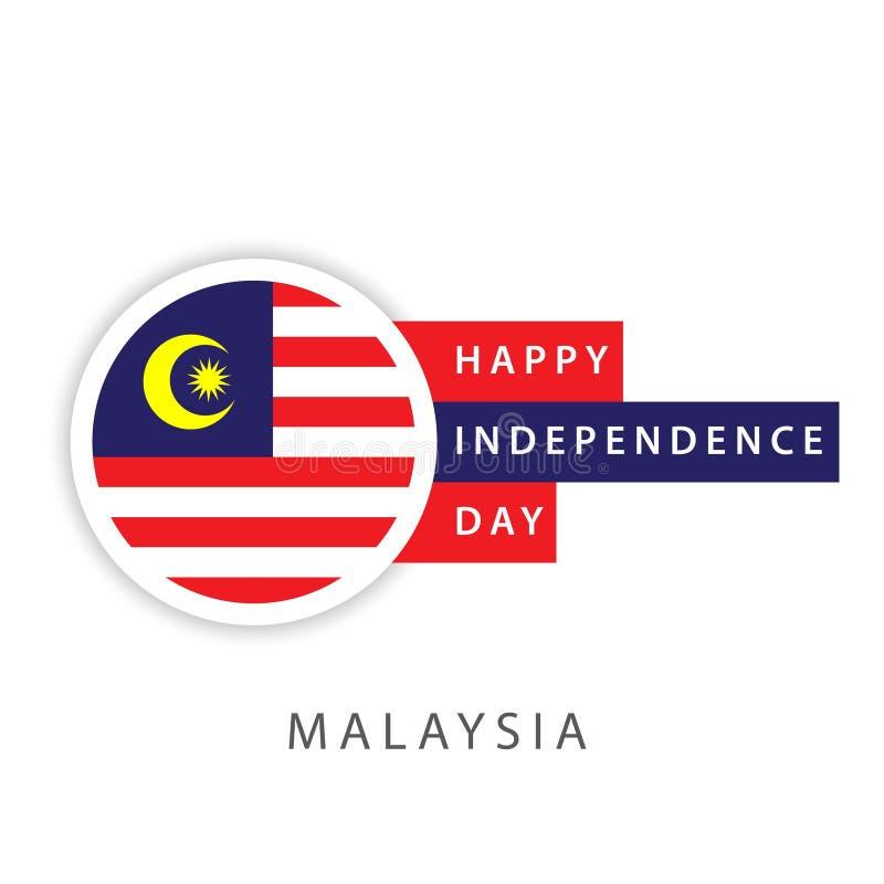 Illustrateur heureux de conception de calibre de vecteur de Jour de la Déclaration d'Indépendance de la Malaisie illustration de vecteur