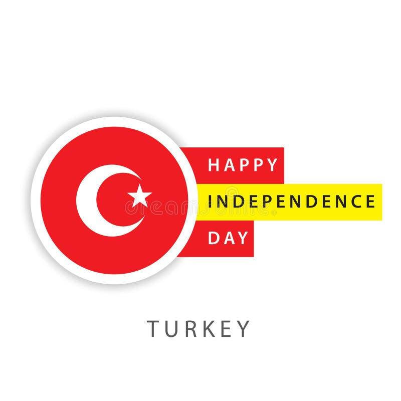 Illustrateur heureux de conception de calibre de vecteur de Jour de la Déclaration d'Indépendance de la Turquie illustration stock