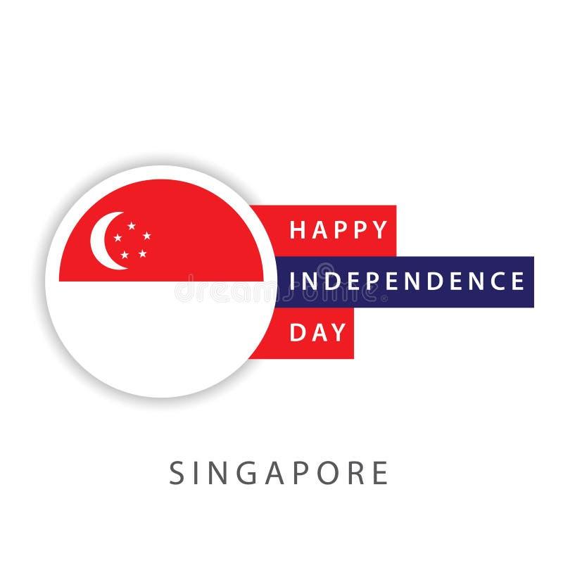 Illustrateur heureux de conception de calibre de vecteur de Jour de la D?claration d'Ind?pendance de Singapour illustration de vecteur