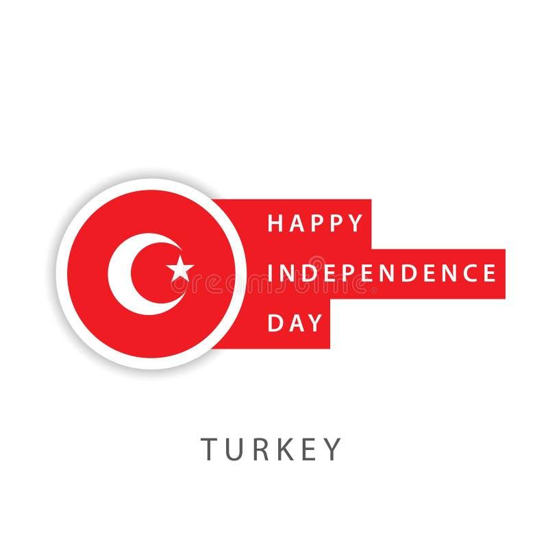 Illustrateur heureux de conception de calibre de vecteur de Jour de la D?claration d'Ind?pendance de la Turquie illustration libre de droits