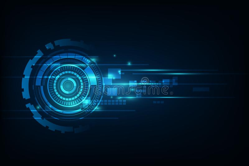 Illustrati bleu de fond de technologie d'Internet de vitesse de résumé salut illustration stock