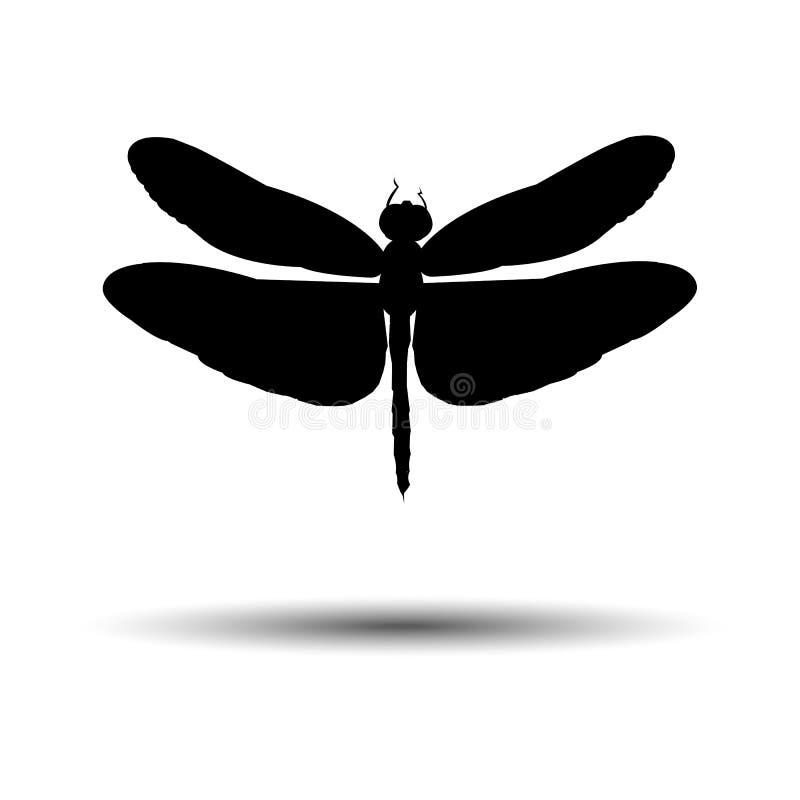Illustrati del verano de la mosca de la fauna de la naturaleza de la libélula del arte del color del vector stock de ilustración