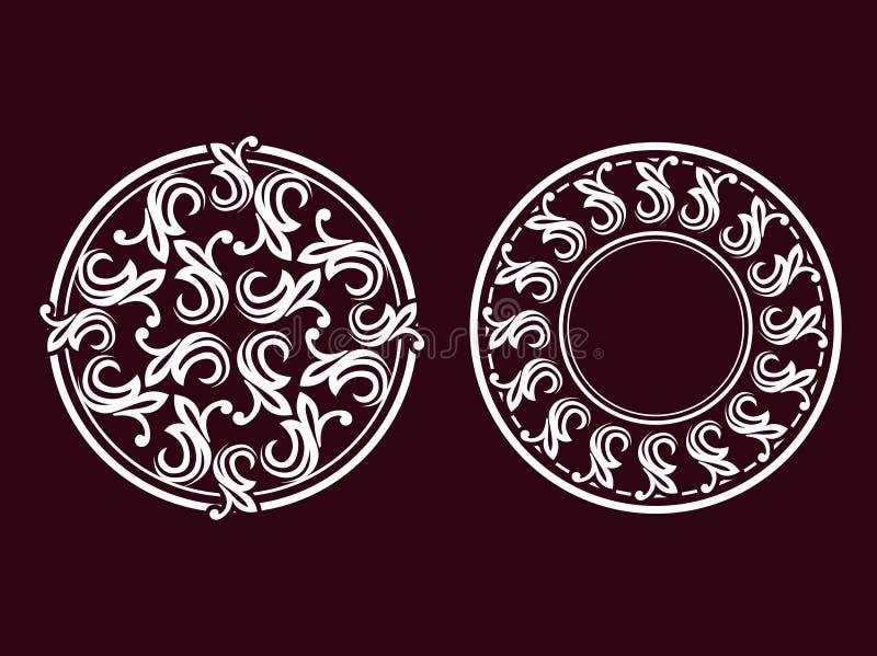 Illustratie 02 van het ornament royalty-vrije illustratie