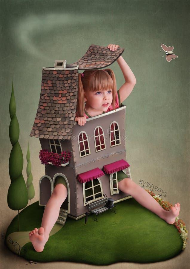 Illustratie aan het sprookje Alice in Sprookjesland vector illustratie