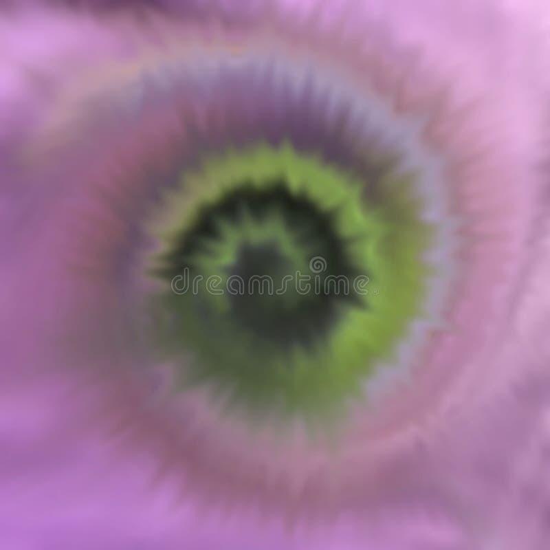 Illustratie die de stof het sterven proces geroepen band afschilderen die in veelvoudige kleuren sterven vector illustratie