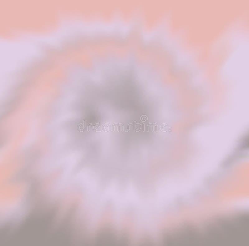 Illustratie die de stof het sterven proces geroepen band afschildert die in veelvoudige kleuren sterft stock illustratie