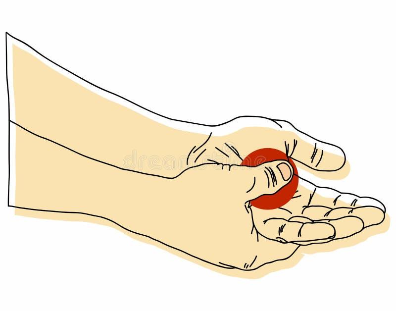 Illustratie die door handziekte wordt getrokken stock afbeelding