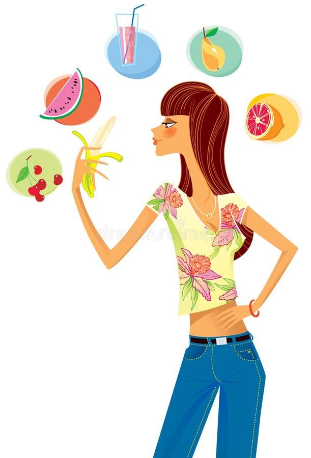 Illustratie. Dieet. stock illustratie
