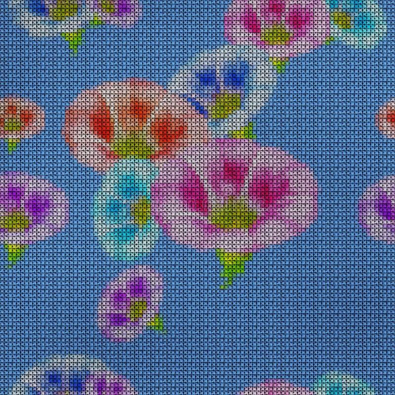 Illustratie Dwars-steek Grotere winde Naadloos patroon vector illustratie