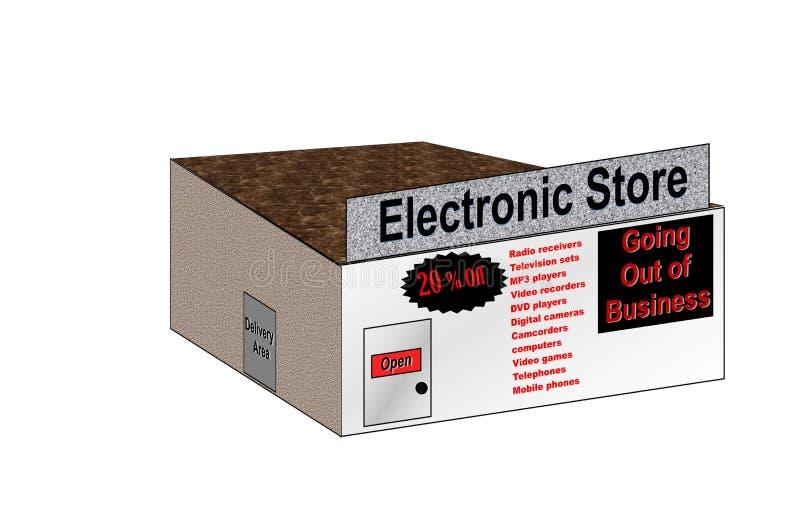 Illustratie Elektronische Opslag het Uitgaan van Zaken stock illustratie
