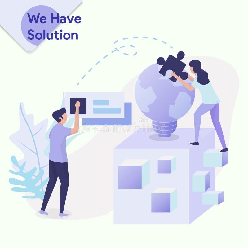 Illustratie hebben wij Oplossing vector illustratie