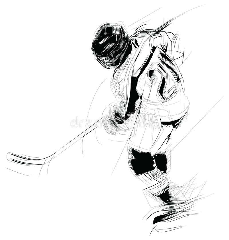 Illustratie: hockey speler vector illustratie