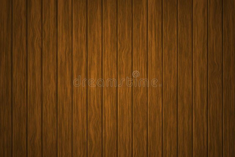 Illustratie houten achtergrond, de oppervlakte van de oude bruine houten textuur, het hoogste mening houten met panelen bekleden vector illustratie