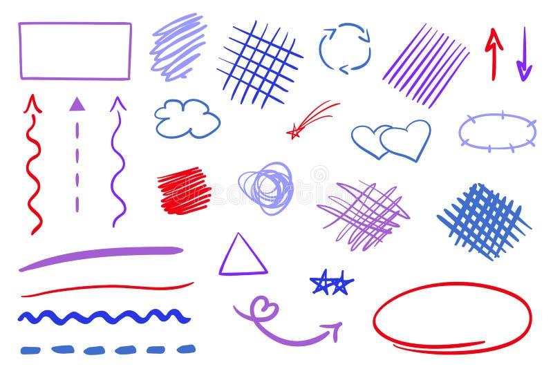 Illustratie Kunstverwezenlijking vector illustratie