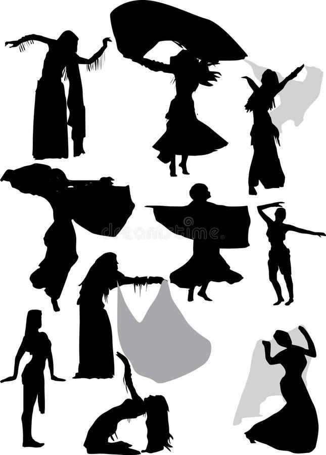 Illustratie met dansers vector illustratie