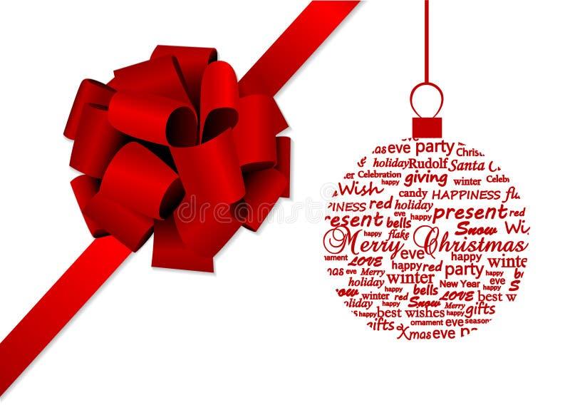 Illustratie met een metaphoric bal van Kerstmis stock illustratie