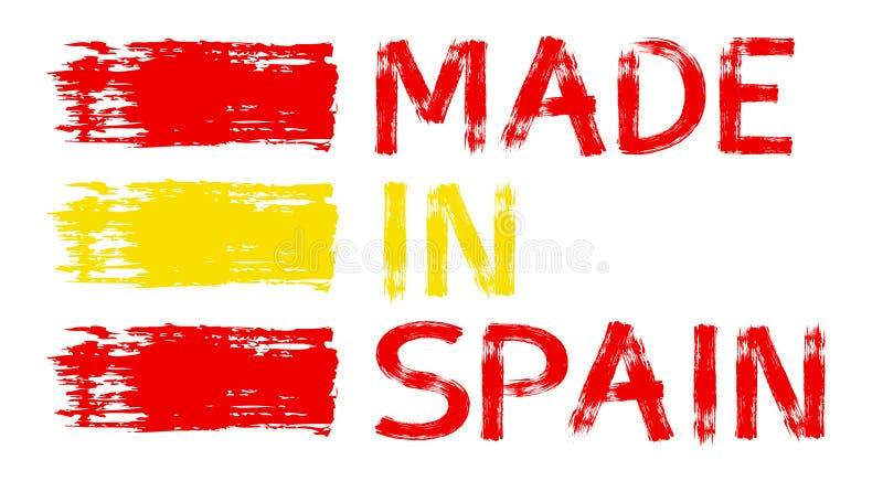 Illustratie met Gemaakt in Zweden, Spanje, Italië, Duitsland, Frankrijk, China royalty-vrije illustratie