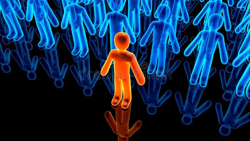 Illustratie van Aanhangers die achter een Avatar pictogram verschijnen stock illustratie