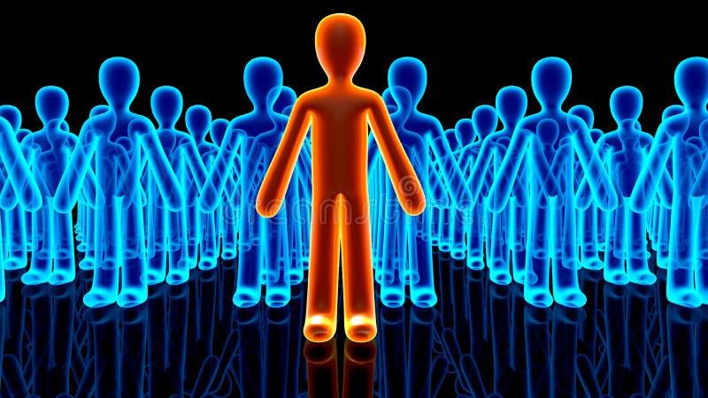 Illustratie van Aanhangers die achter een Avatar pictogram verschijnen vector illustratie