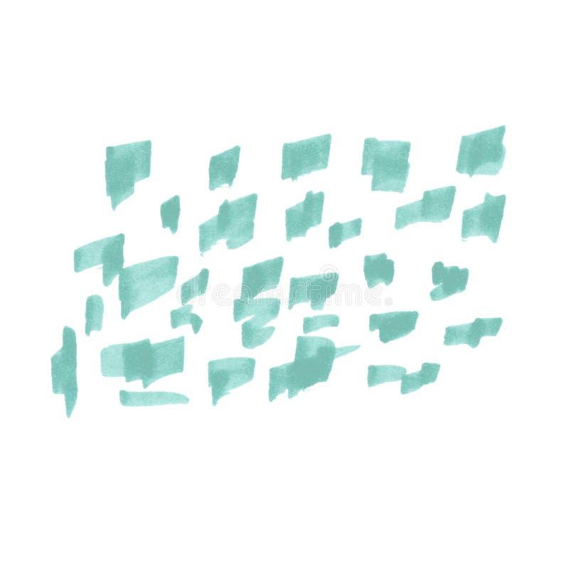 Illustratie van abstracte achtergrondkrabbeltellers royalty-vrije illustratie