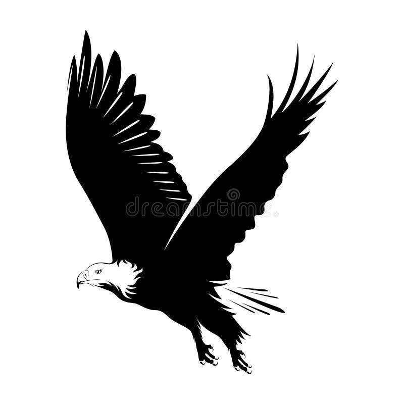 Illustratie van adelaar het vliegen stock illustratie