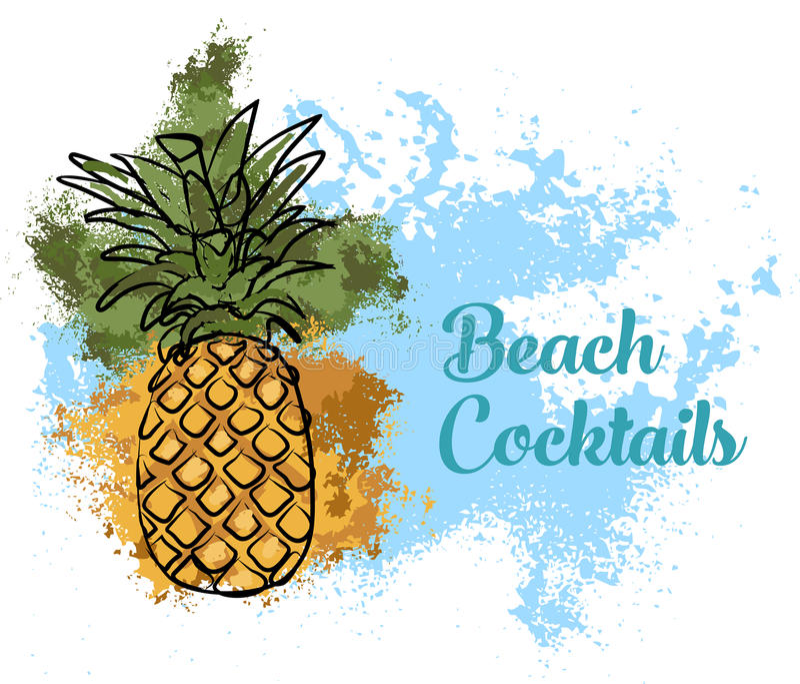 Illustratie van ananas royalty-vrije stock foto