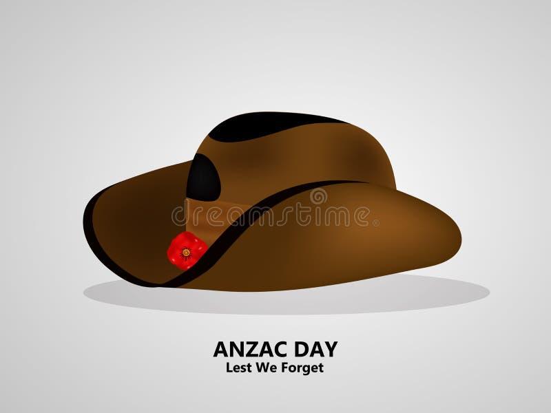 Illustratie van Anzac Day-achtergrond stock illustratie
