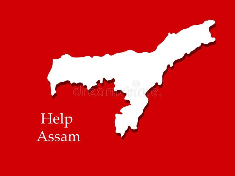 Illustratie van Assam-Vloedachtergrond royalty-vrije illustratie