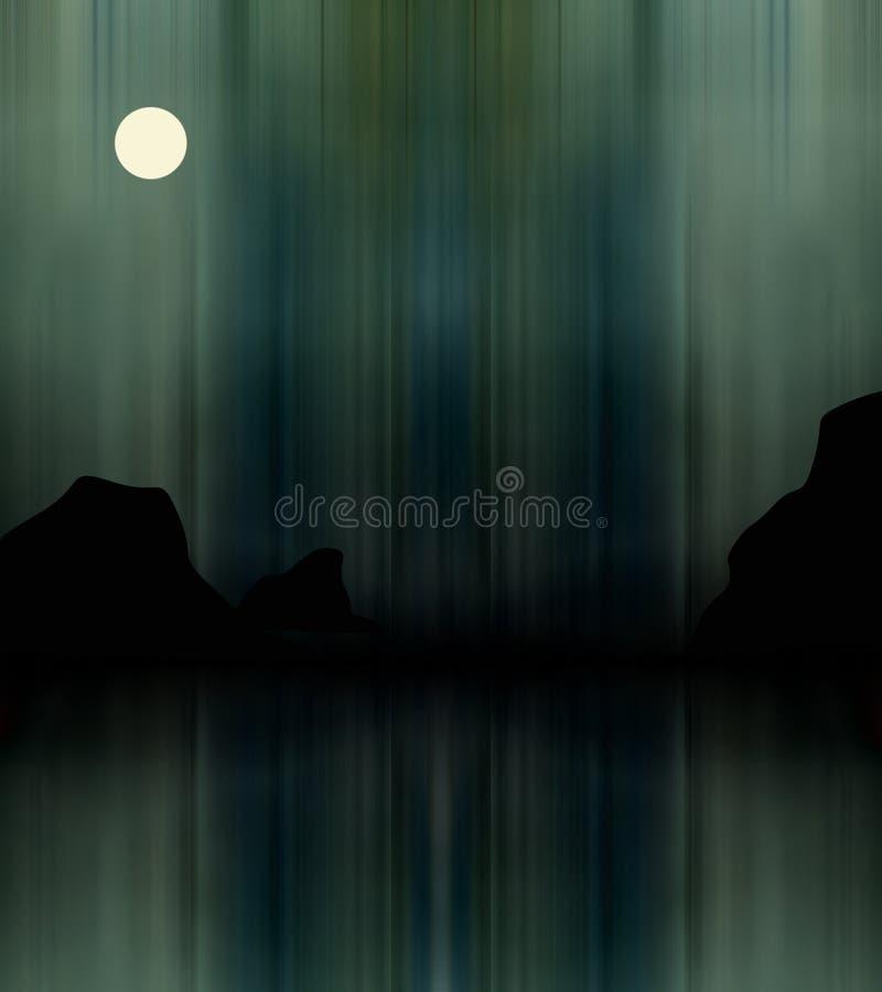 Illustratie van aurora borealis royalty-vrije stock afbeelding