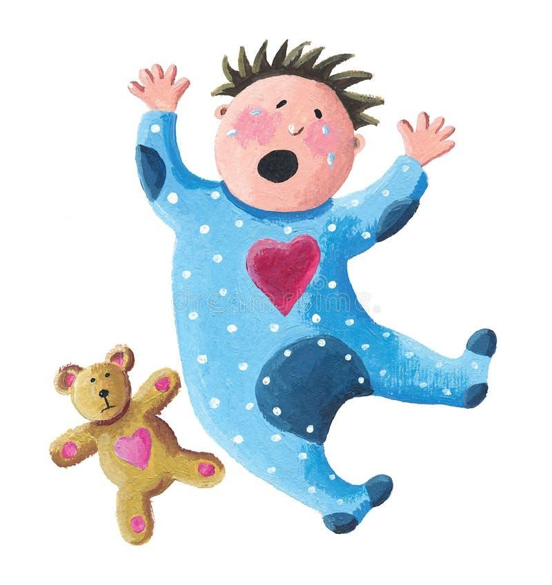 Illustratie van baby het schreeuwen royalty-vrije illustratie