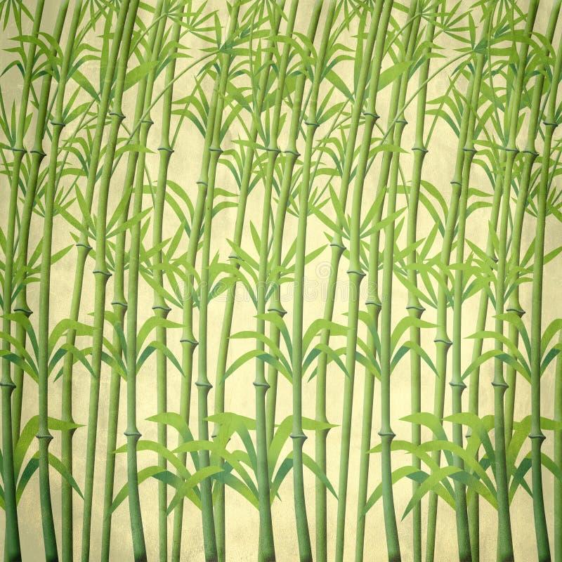 Illustratie van bamboetakken stock illustratie