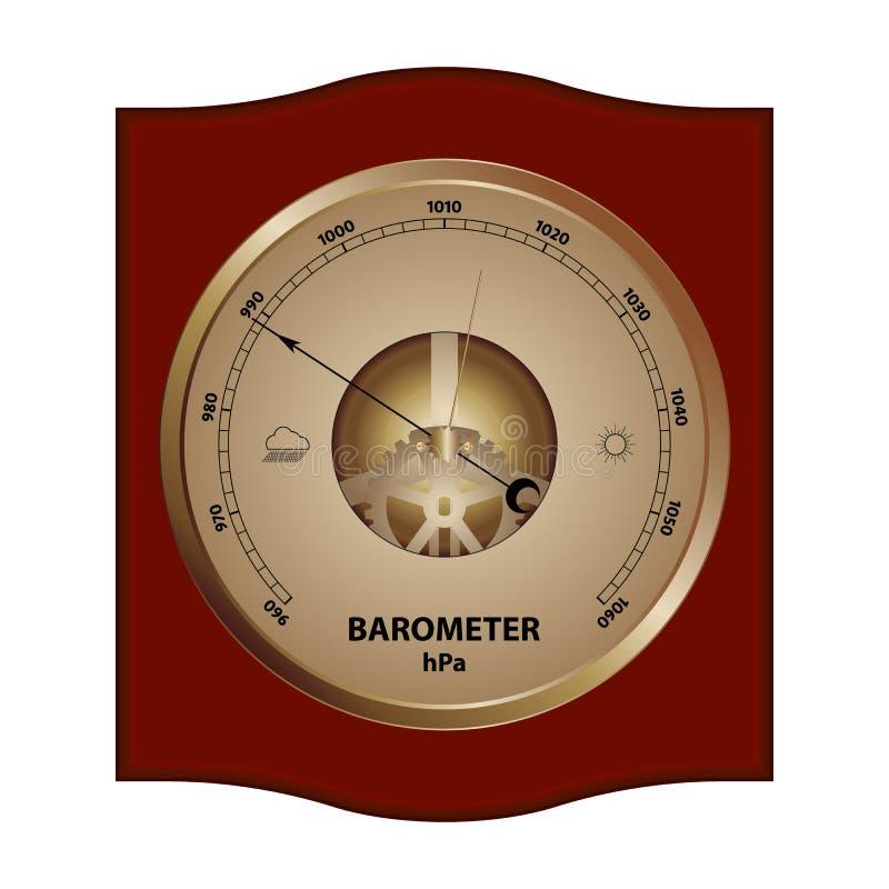 Illustratie van barometer stock illustratie