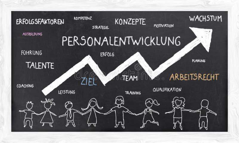 Illustratie van Bedrijfsconcepten in het Duits royalty-vrije illustratie