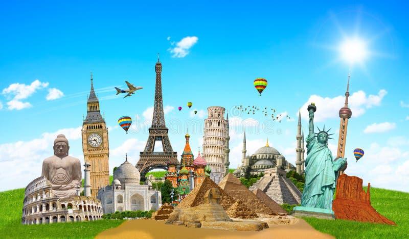 Illustratie van beroemd monument van de wereld stock illustratie