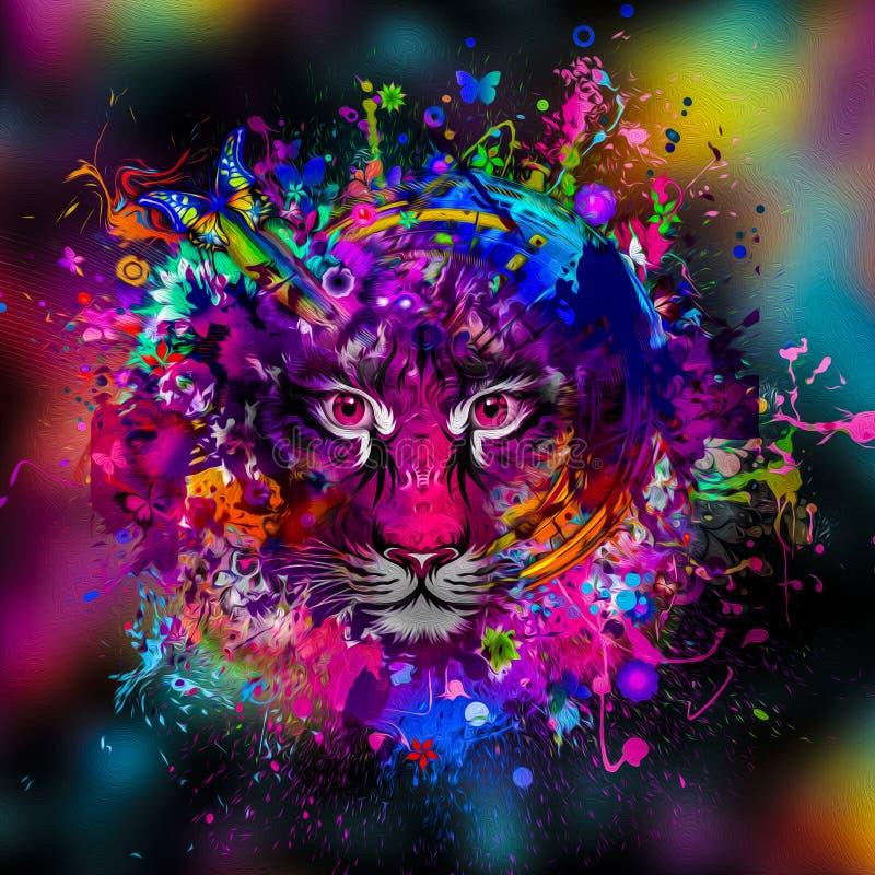 Illustratie van Boze tijger vector illustratie