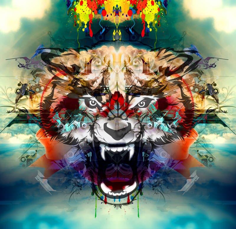 Illustratie van Boze wol royalty-vrije illustratie