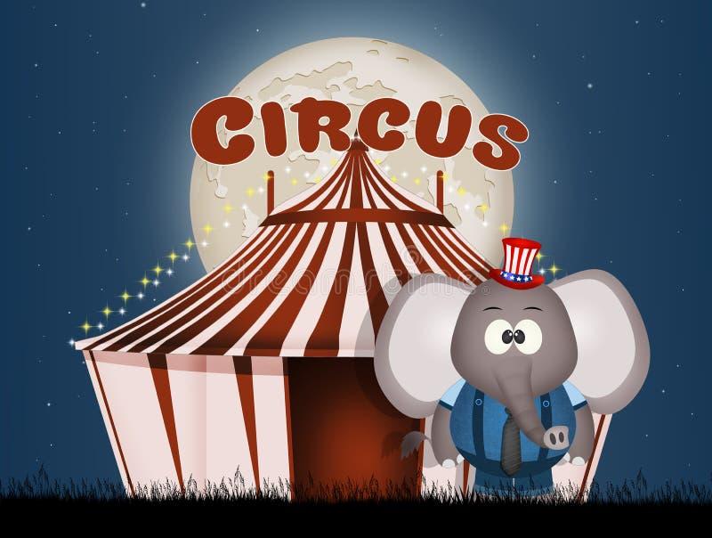 Illustratie van circus stock illustratie