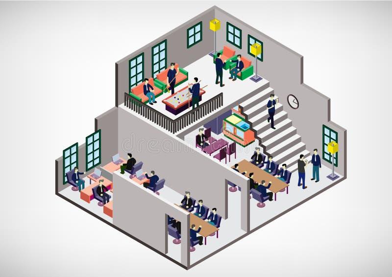 Illustratie van concept van de informatie het grafische binnenlandse ruimte vector illustratie