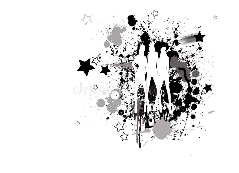 Illustratie van dansende meisjes vector illustratie