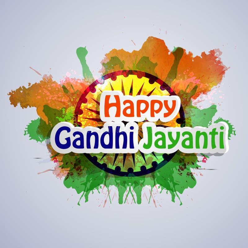 Illustratie van de Achtergrond van Gandhi Jayanti royalty-vrije illustratie