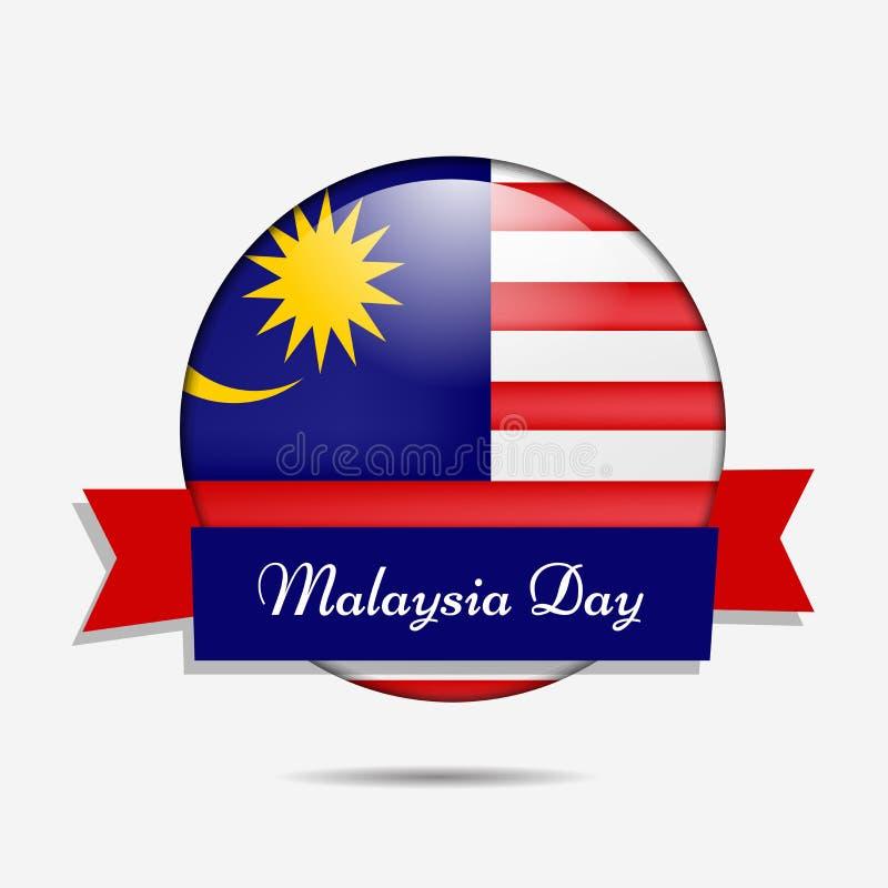 Illustratie van de achtergrond van de de Onafhankelijkheidsdag van Maleisië stock illustratie