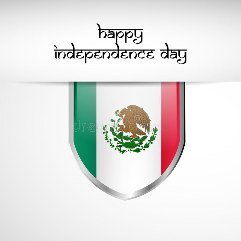 Illustratie van de Achtergrond van de de Onafhankelijkheidsdag van Mexico vector illustratie