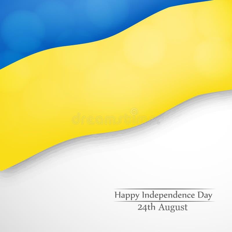 Illustratie van de Achtergrond van de de Onafhankelijkheidsdag van de Oekraïne stock illustratie