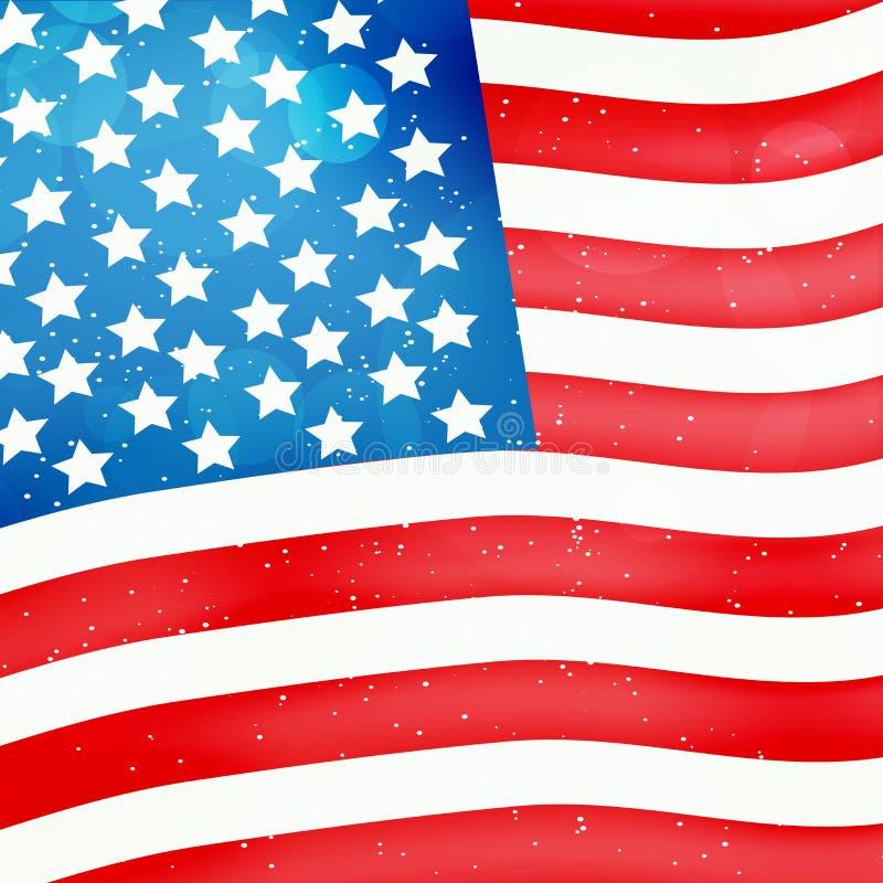 Illustratie van de Achtergrond van de de Grondwetsdag van de V.S. stock illustratie
