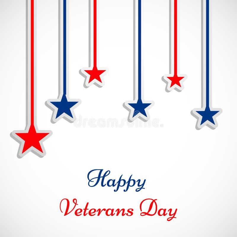 Illustratie van de Achtergrond van de Veteranendag vector illustratie