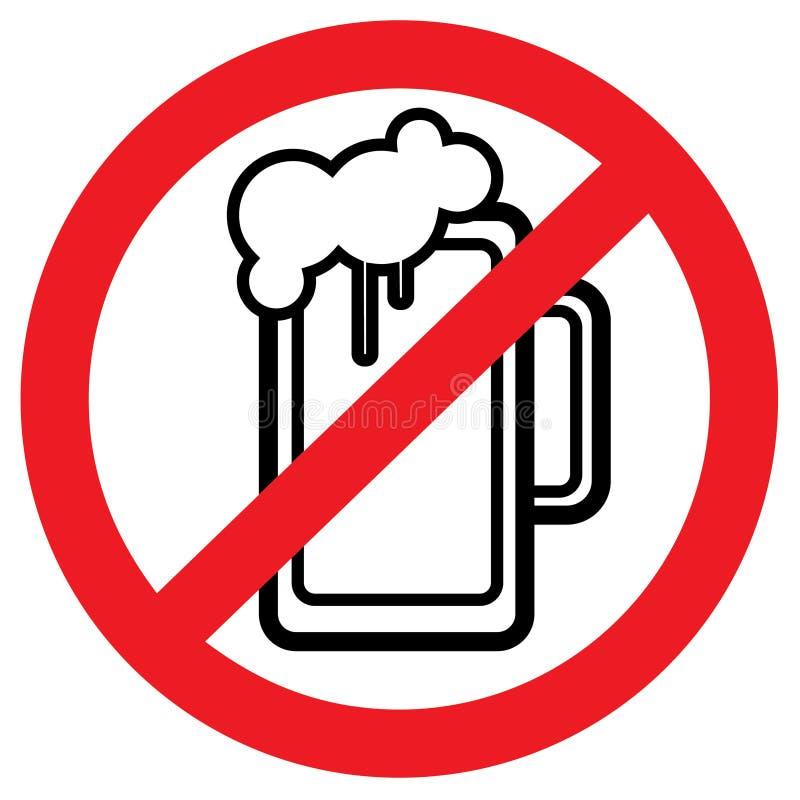 """Illustratie van de alcohol forbidden†de """"voorraad royalty-vrije illustratie"""