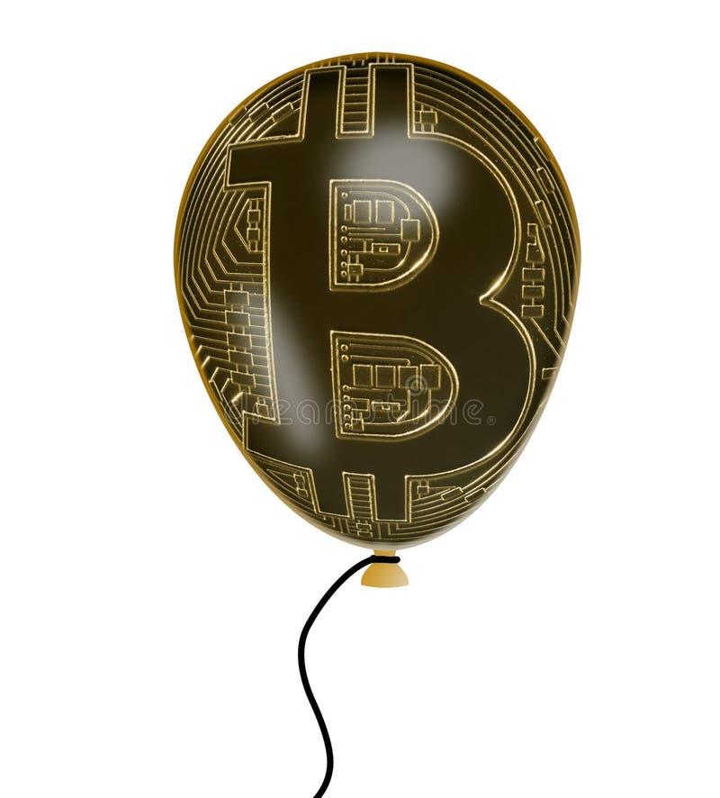 Illustratie van de bel die van de bitcoinprijs ballon gebruiken stock illustratie