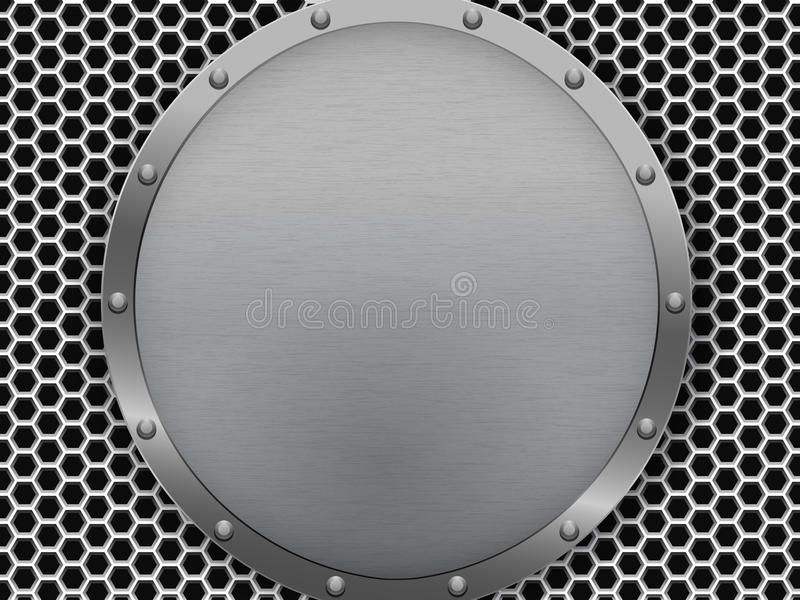 Illustratie van de donkere hexagon textuur van de metaalgrill vector illustratie