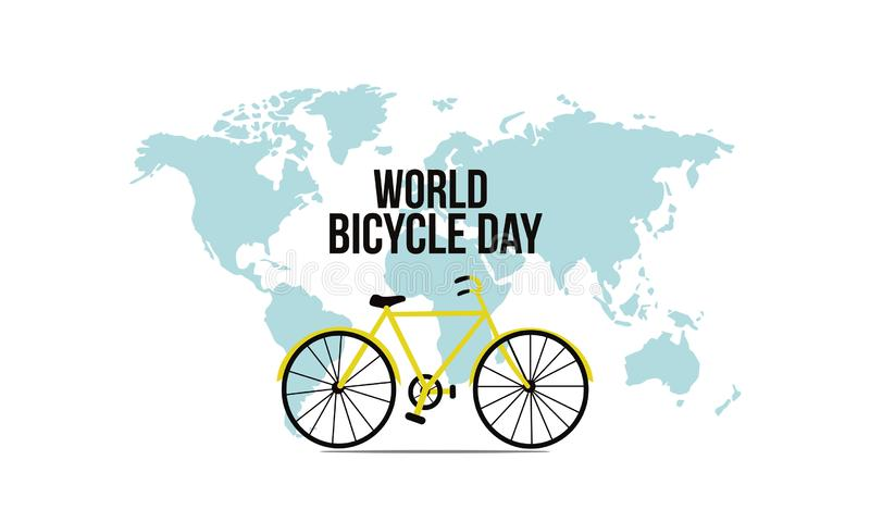 Illustratie van de fietsdag van de Conceptenwereld vectorillustratie - Vector royalty-vrije illustratie